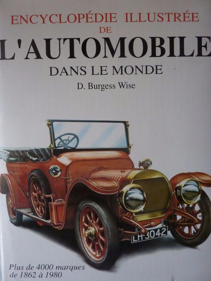 Encyclopédie Automobile  Illustrée Livre Document Burgess Wise