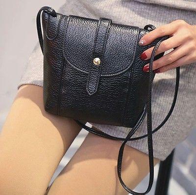 Women Leather Small Messenger Crossbody Handbag Purse