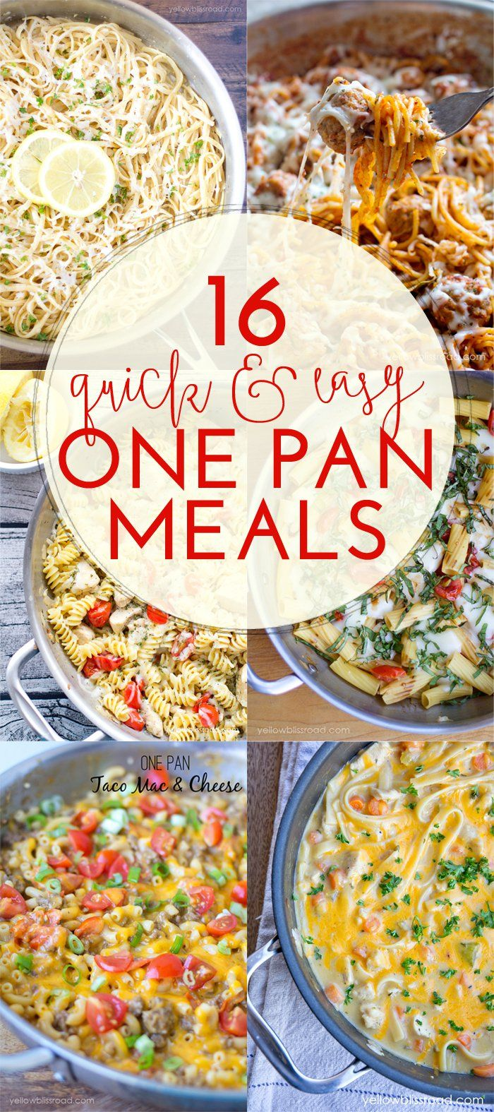16 Quick and Easy One Pan Meals