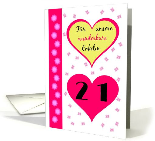 The 24 best birthday cards spanish images on pinterest spanish 21st birthday our granddaughter pink hearts german language card m4hsunfo