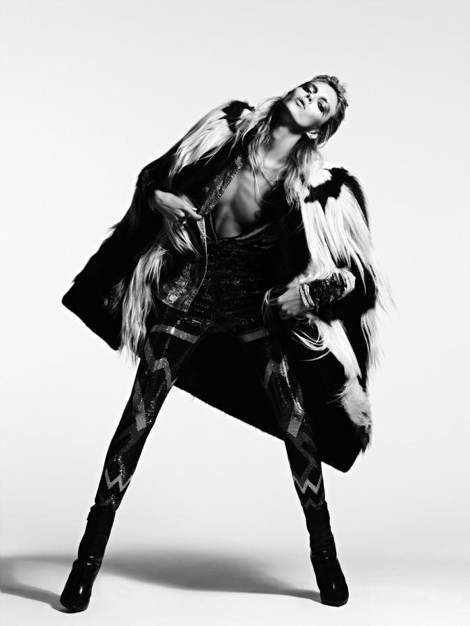 V Magazine model: Anja Rubik, photography: Heidi Slimane, styled by: Melanie Ward rackk n ruin