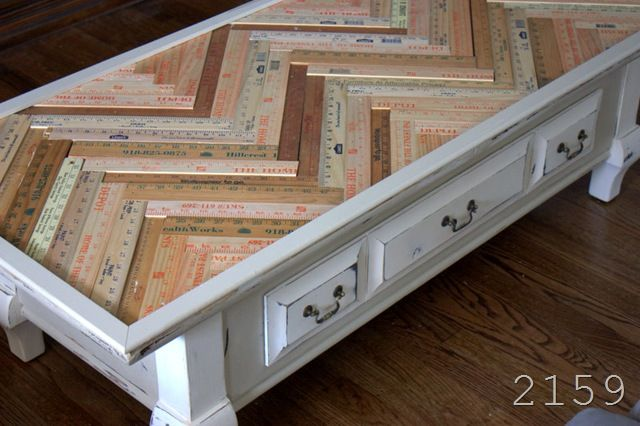 fun DIY upcycled coffee table
