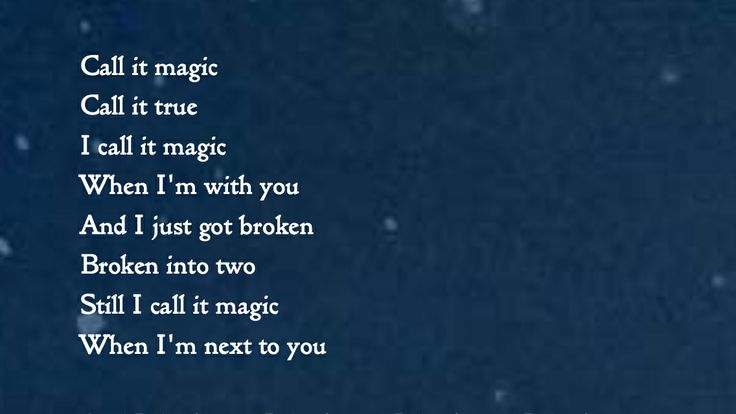 Magic - Coldplay Lyrics