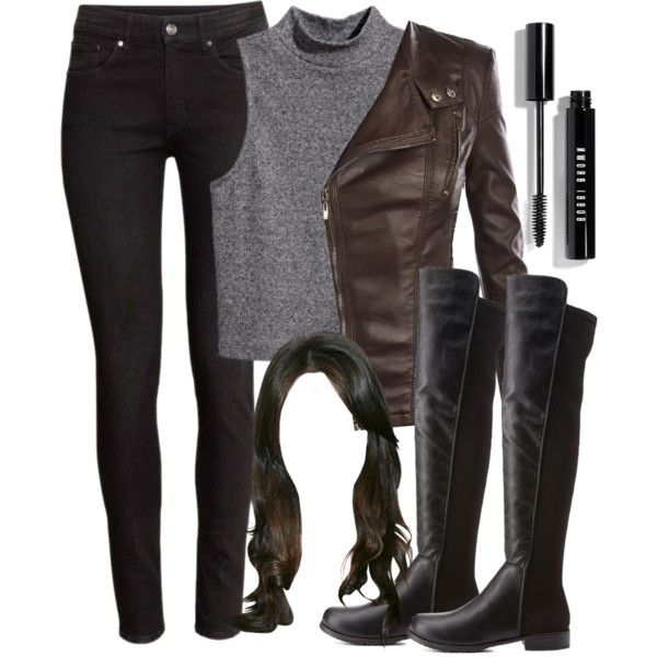 """Recreating Spencer Hastings' outfit from 5x01 """"EscApe From New York"""" by liarsstyle on Polyvore featuring H&M, Bamboo, Bobbi Brown Cosmetics, women's clothing, women's fashion, women, female, woman, misses and juniors"""