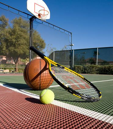With our versatile Sports Court, you can get a group together for a game of volleyball, enjoy a set of tennis or spend the day shooting some hoops on your own. We have all the equipment waiting for you.