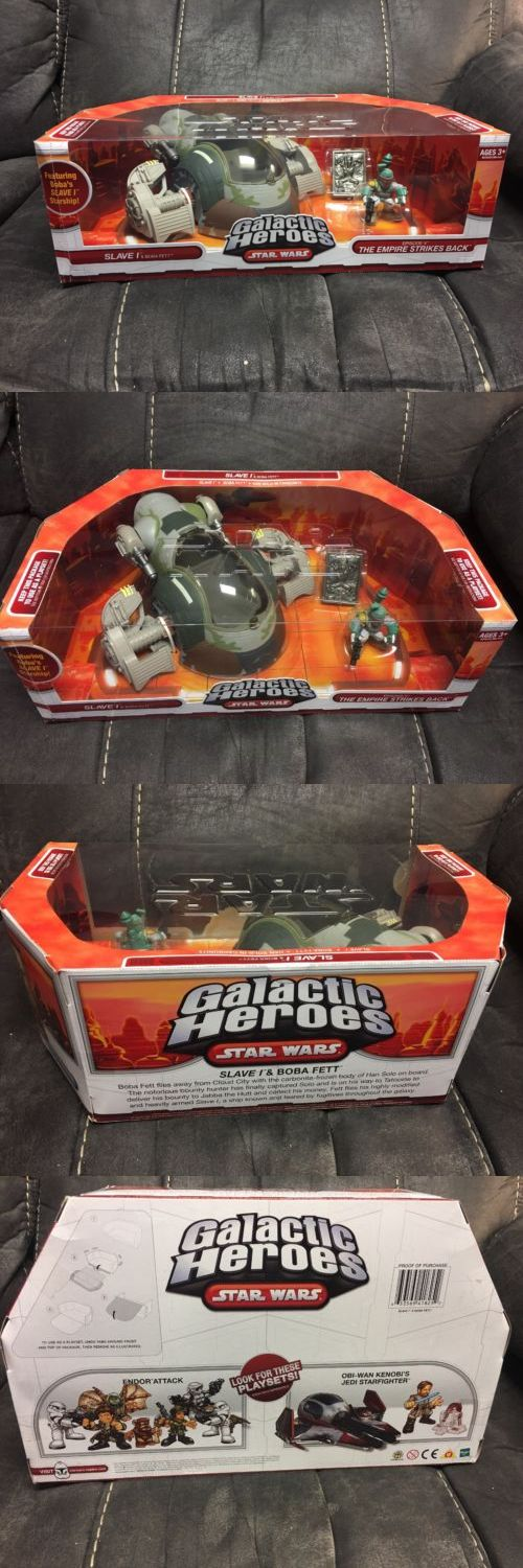Action Figures 7114: Hasbro Star Wars Galactic Heroes: Slave I - Boba Fett - Han Solo In Carbonite... -> BUY IT NOW ONLY: $80 on eBay!