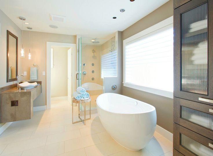 We love mixing neutrals. Clean, simple and sophisticated! #bathroomrenovation #bathroominspiration #renovate #homerenovafionideas