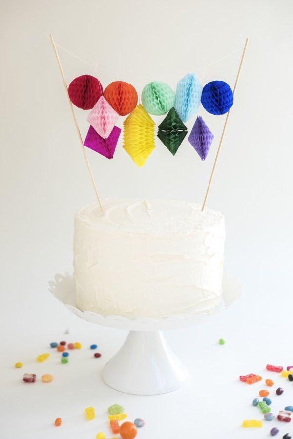 Honeycomb Paper Cake Topper DIY