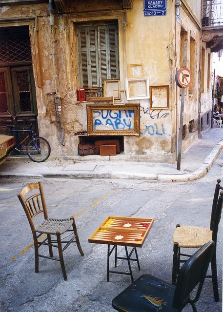 Monastiraki, the old town of Athens, Greece