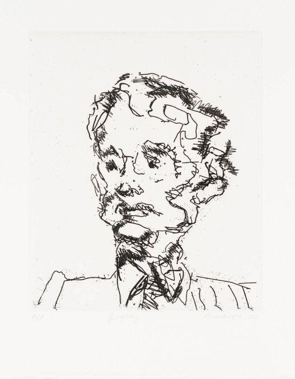 frank auerbach - geoffrey, 1990