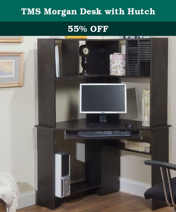 Perfect TMS Morgan Desk with Hutch Maximize your home office space with the Morgan puter desk