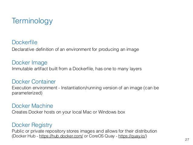 Docker Terminologies