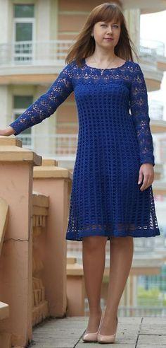 crochet dress by Ludmila Vostrikova