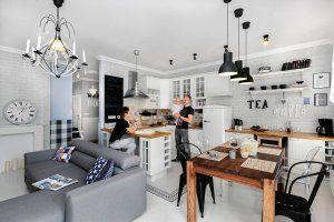 Nieustawna Kuchnia Z Salonem 20m2 Szukaj W Google Home