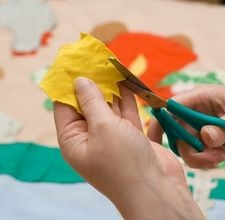 making fabric flowers for headbands