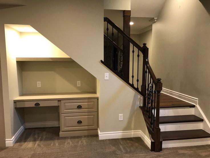 2016 Built in desk under stairs   Desk under stairs ...