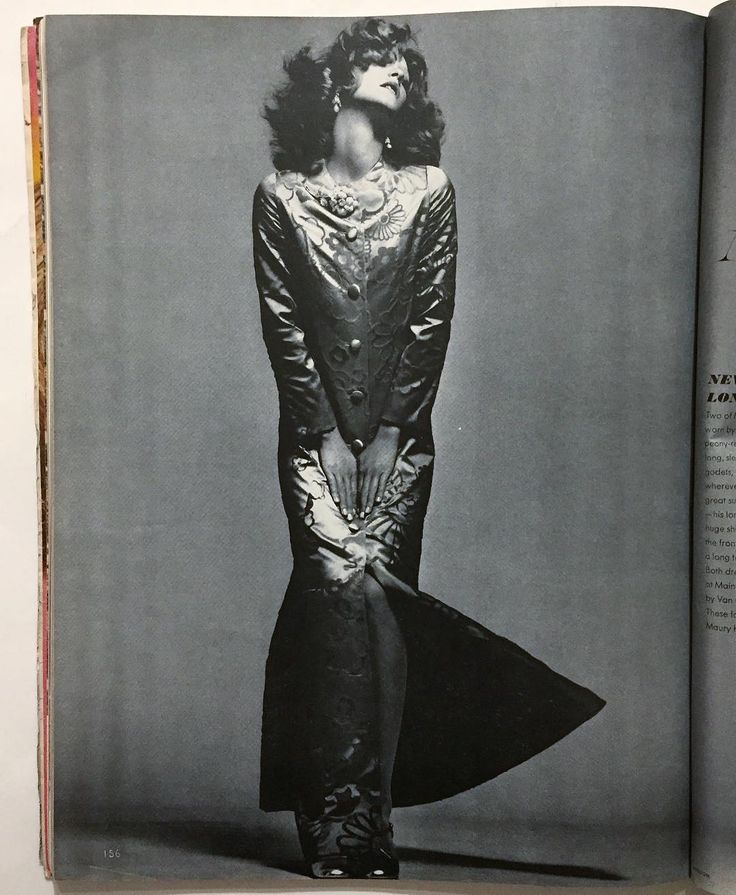Loulou de la Falaise in Mainbocher coat dress photographed by Richard Avedon - Vogue November 1, 1970 from my collection. 💘 . «Mainbocher great gala evening dress vividly worn by Loulou de la Falaise...A glorious blaze of peony-red cut velvet on silk satin. Long sleeved coat dress that flares at the knee with godets, buttons downs the front so it can open wherever you please. Jewelry by Van Cleef & Arpels. Coiffure Maury Hopson. » 🖤 . #louloudelafalaise #loulou #louisedelafalaise…