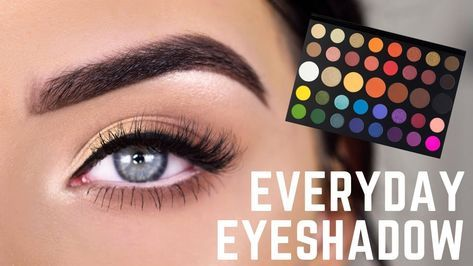 easy everyday eyeshadow  james charles palette eye makeup