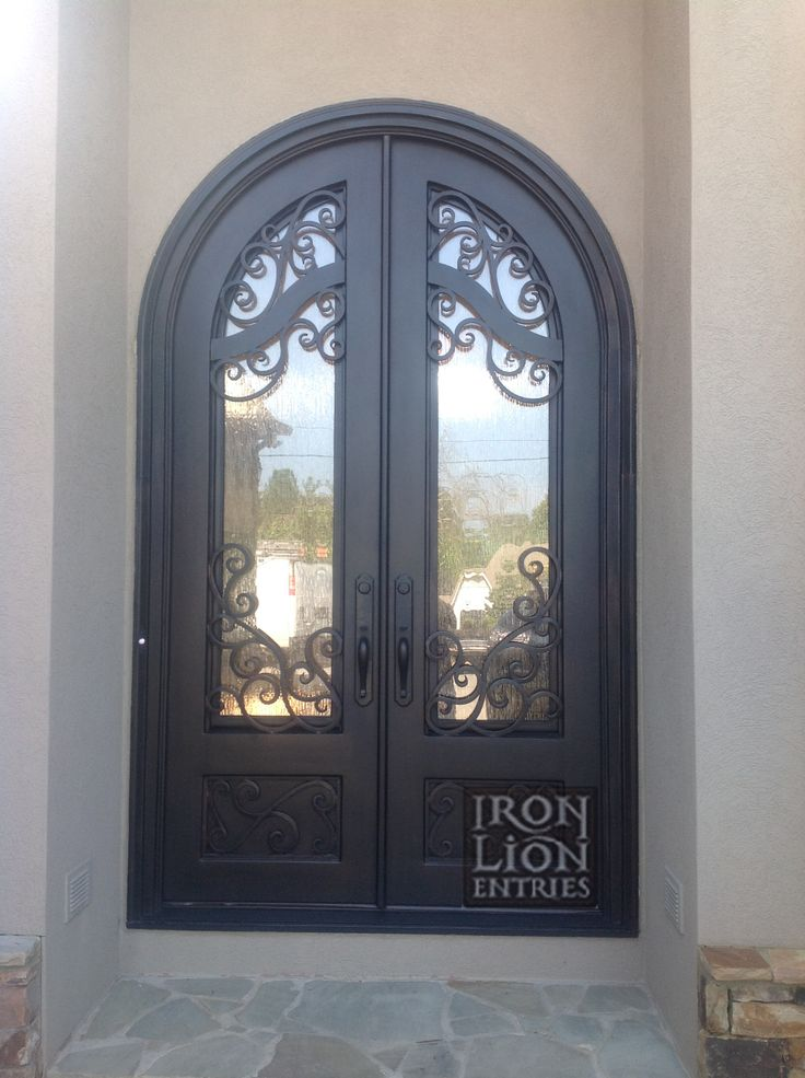 75 Best Iron Front Door Installations Images By Iron Lion Entries