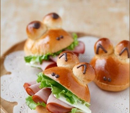 How to Make Mini Frog Sandwich With Ham and Cheese | www.FabArtDIY.com LIKE Us on Facebook ==> https://www.facebook.com/FabArtDIY