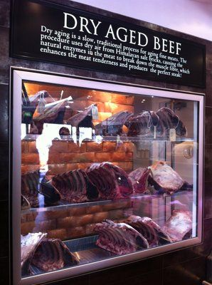 Dry aged beef framed display