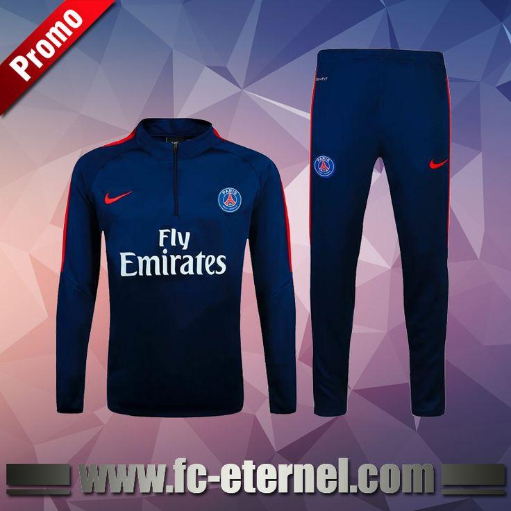 Site Survetement de foot Paris PSG Bleu Marine 2016-2017 Chine