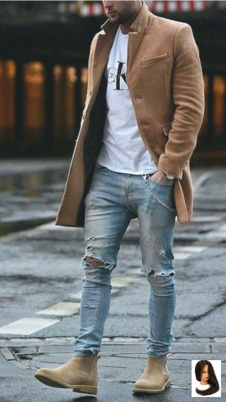 camel #coat chic outfit #MensFashionEdgy