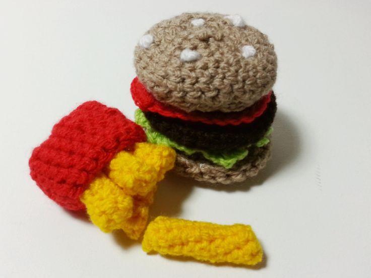 Crochet Burger meal