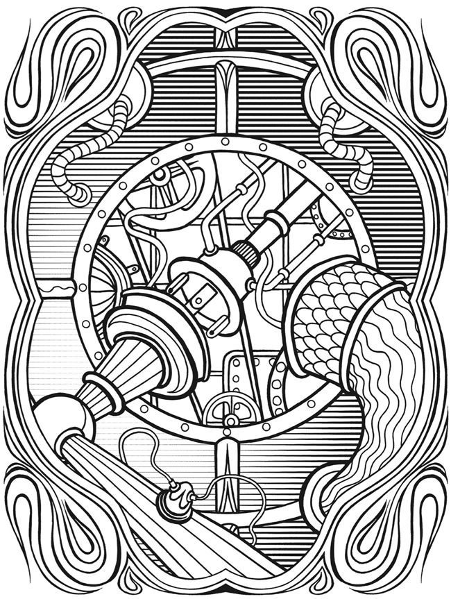 colouring pages steam punk google search