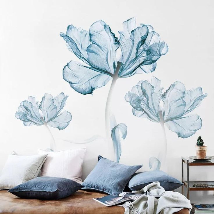 Watercolor Flowers Wall Decals In 2020 Flower Wall Decals Wall