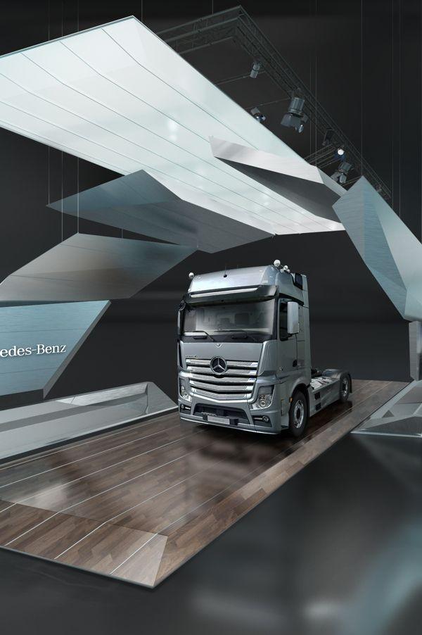 Mercedes-Benz Trucks Stand Concept by Igor Iastrebov, via Behance