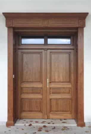Porte d'entrée battante / en bois BERTRAND