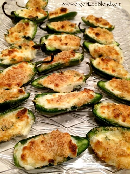 SImple Recipe for Baked Jalapeno Poppers - No frying needed | Organized Island