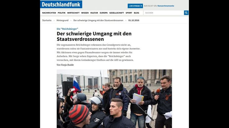 Reichsbürger Sender Deutschlandfunk hetzt gegen staatenlos.info Berlin 3...