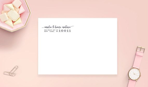 Clear Address Stickers 2 5/8 x 1 Glossy Transparent by HeartsRoots