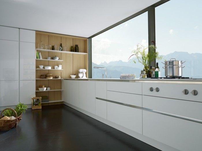 115 best images about küche on pinterest | home decor kitchen ... - Weie Gardinen Mit Grauen Sal