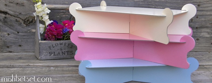 how to assemble a cardboard cake stand