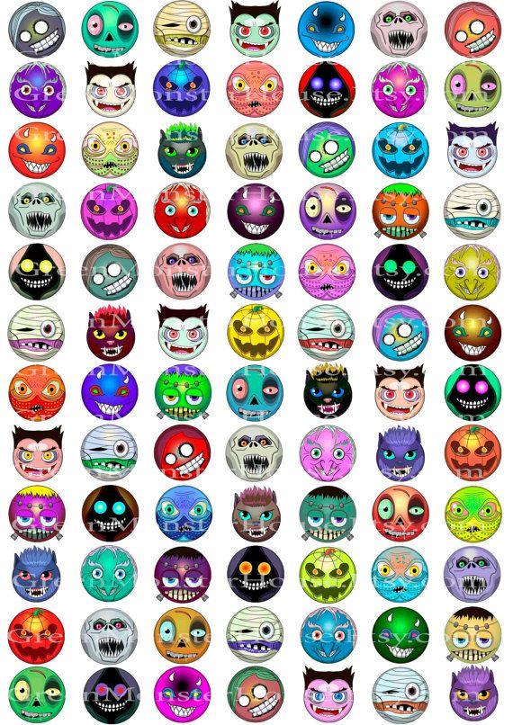 Happy halloween monster emoji smiley face vector illustration digital zombie clipart vampire drawing wich smiley Franken stein emoji kids