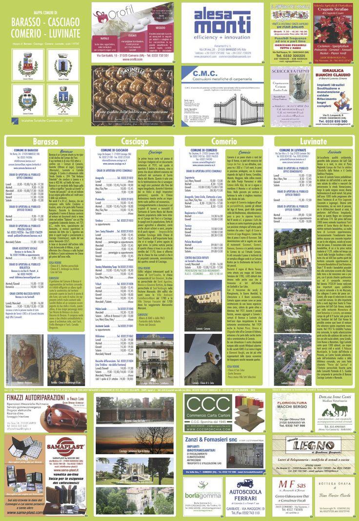 Il retro della mappa con le informazioni utili sui quattro paesi e i cenni storici