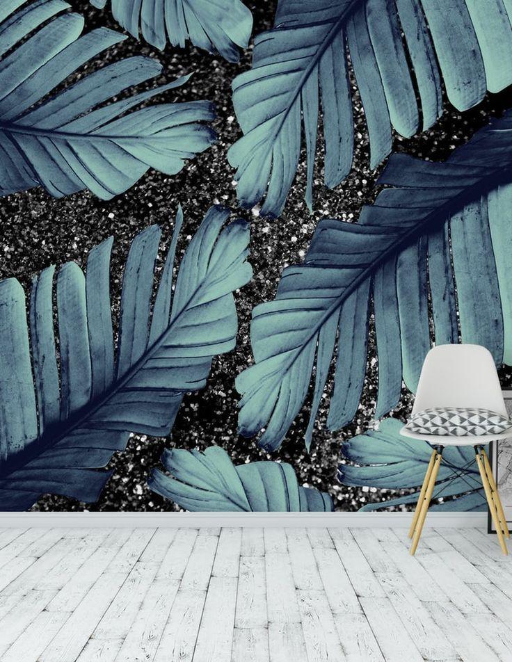 Banana Leaves Glitter Glam 1 Wallpaper from
