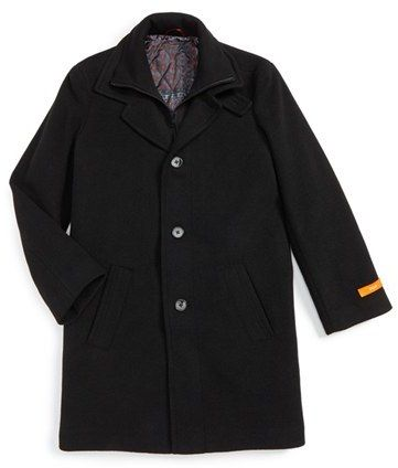 Boy's Tallia Wool Blend Peacoat