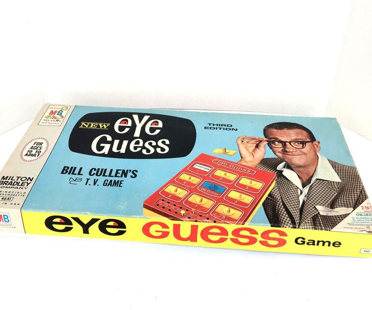 Vintage 1966 Eye Guess Bill Cullen Milton Bradley Third Edition 4641 Board Game #MiltonBradley