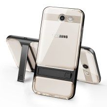 Elegance Sieres TPU + PC Hybrid Kickstand Phone Casing for Samsung Galaxy J5 (2017) - Black