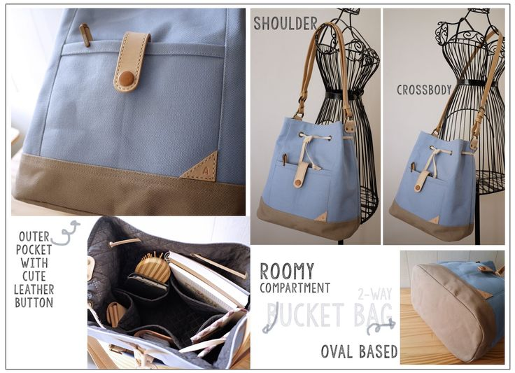 July WorkShop :: 2-Way Bucket Bag (Shoulder & Crossbody) We're planning to have a bucket bag project for so long. This is th...