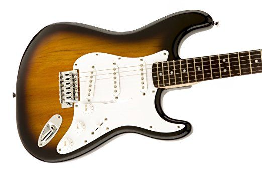 Squier by Fender Bullet Strat Beginner Electric Guitar - Brown Sunburst - Rosewood Fingerboard.    Used Electric Guitars  Fender Guitar Amps  Best Acoustic Electric Guitar  Left Handed Bass Guitar  Rock Guitar  Electric Guitar Pickups  Music Instrument Store  Used Guitars For Sale  Electric Guitar Case  Guitar Straps  Beginner Guitar  Guitar Tuner  Guitar For Beginners  Esteban Guitar  Elixir Guitar Strings  Guitar Effects Pedals