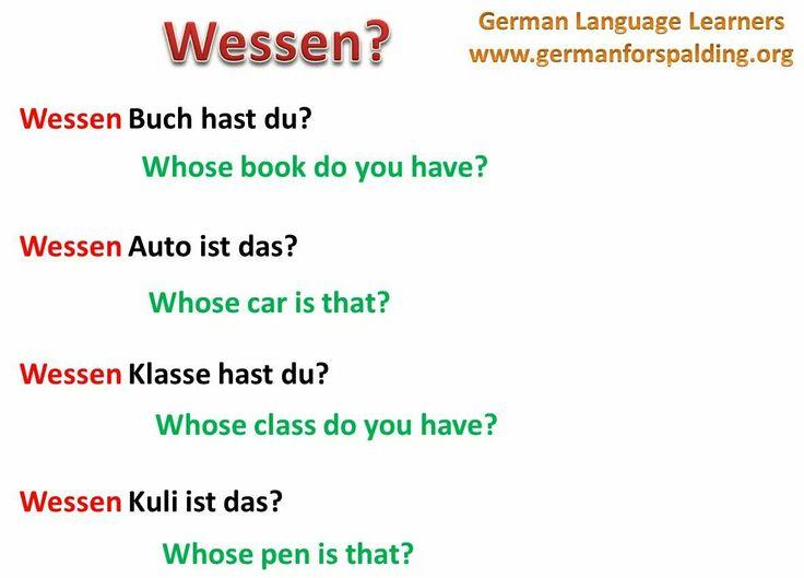 Wessen? = Whose?