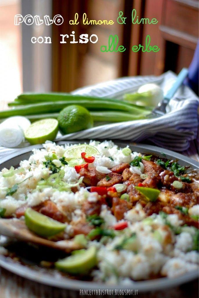 Pollo al limone & lime con riso alle erbe