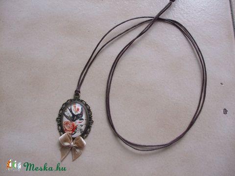 Kézműves Vintage Fecske mintás nyaklánc, Ékszer, óra, Nyaklánc, Ékszerkészítés…