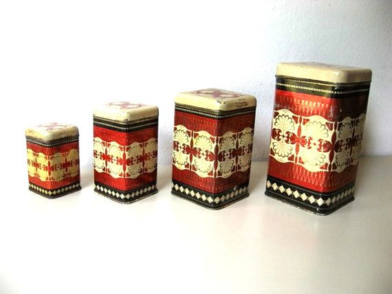 1000 images about canister set on pinterest jars vintage west bend metal canisters set of 4 ebay