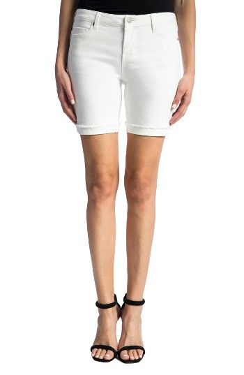 Free shipping and returns on Liverpool Jeans Company Corine Cuffed Denim Shorts at Nordstrom.com. Cuffed hems with a frayed edge update bright-white shorts to show off tanned legs in a slim cut of supersoft stretch denim.